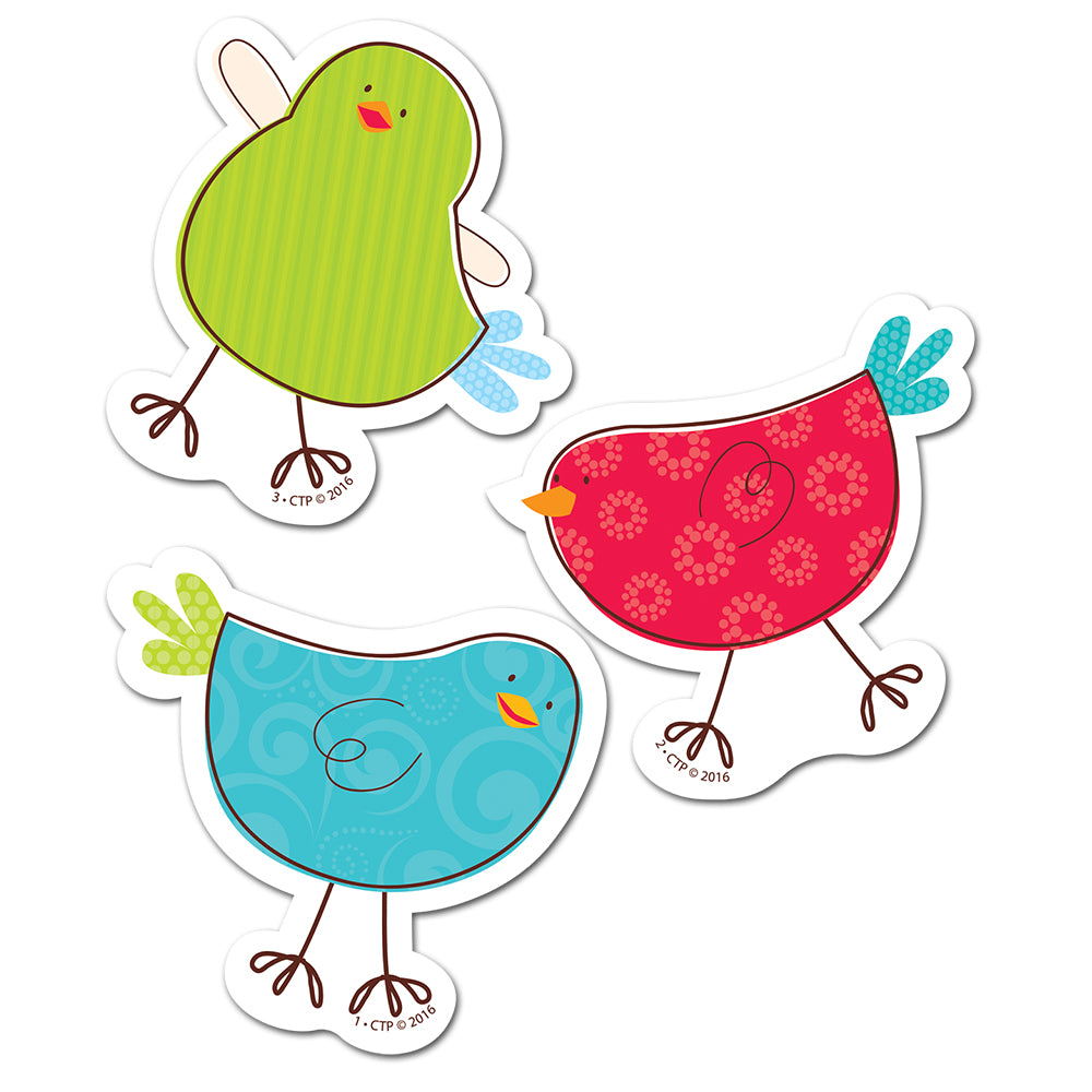 "Tweeting Birds 3"" Designer Cut-Outs"