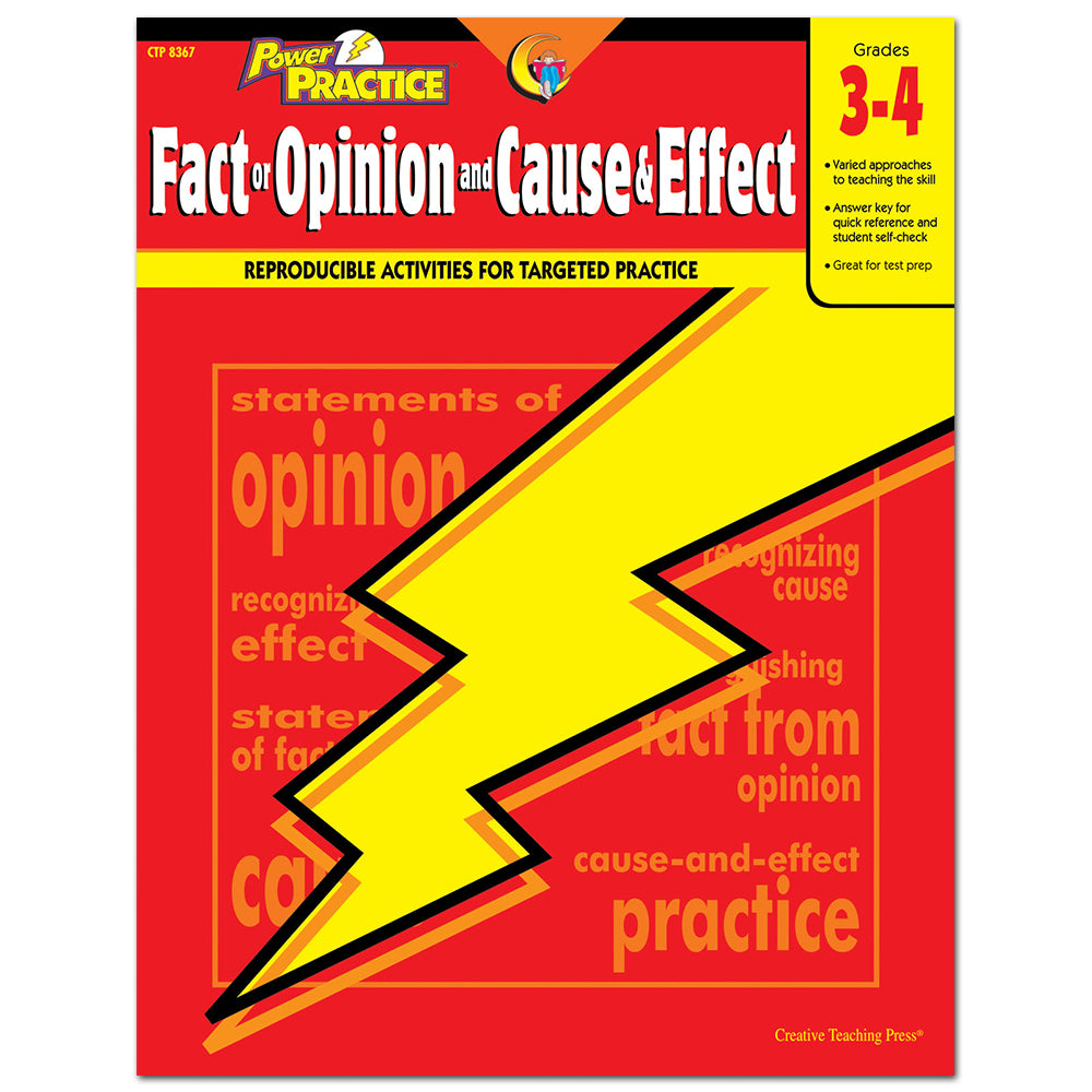 Power Practice: Fact or Opinion and Cause & Effect, Gr. 3-4