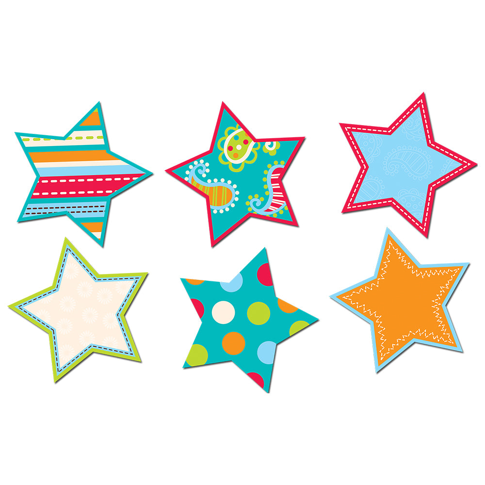 "Dots on Turquoise Stars 6"" Designer Cut-Outs"