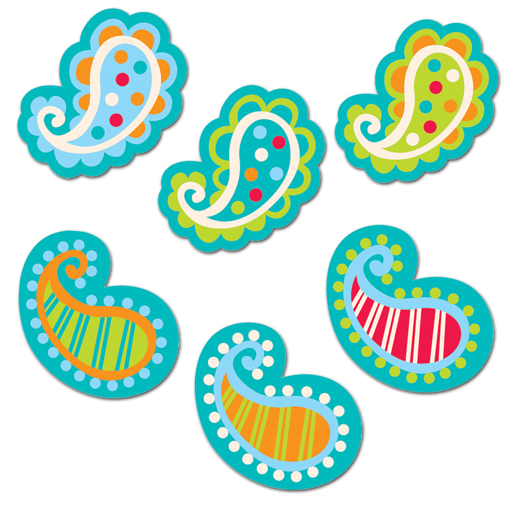 "Paisley 1"" Mini Designer Cut-Outs"