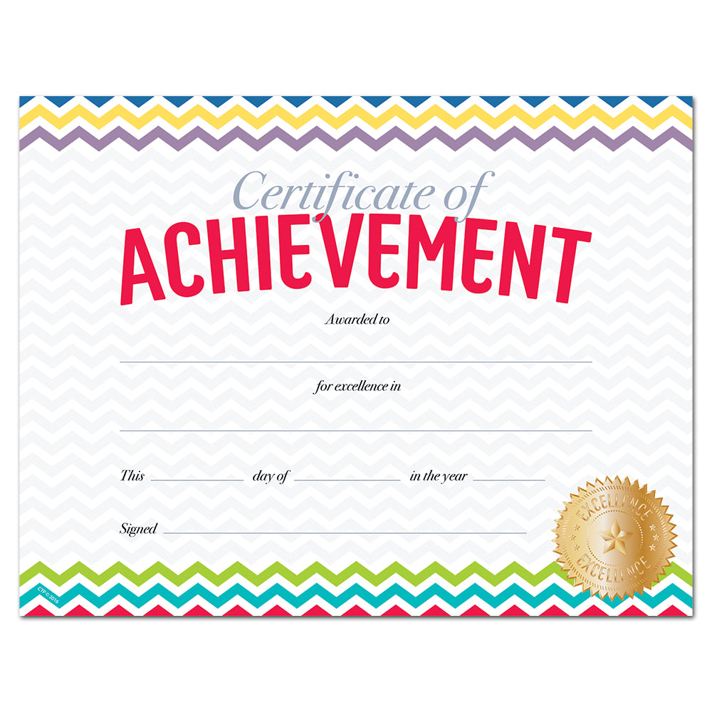 Chevron Certificate of Achievement Large Award