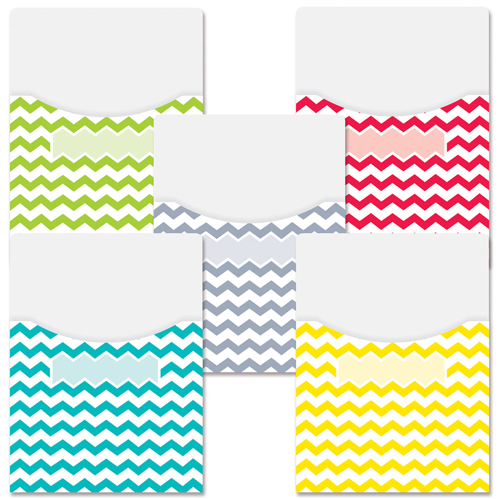 Chevron Solids Library Pockets - Extra Large