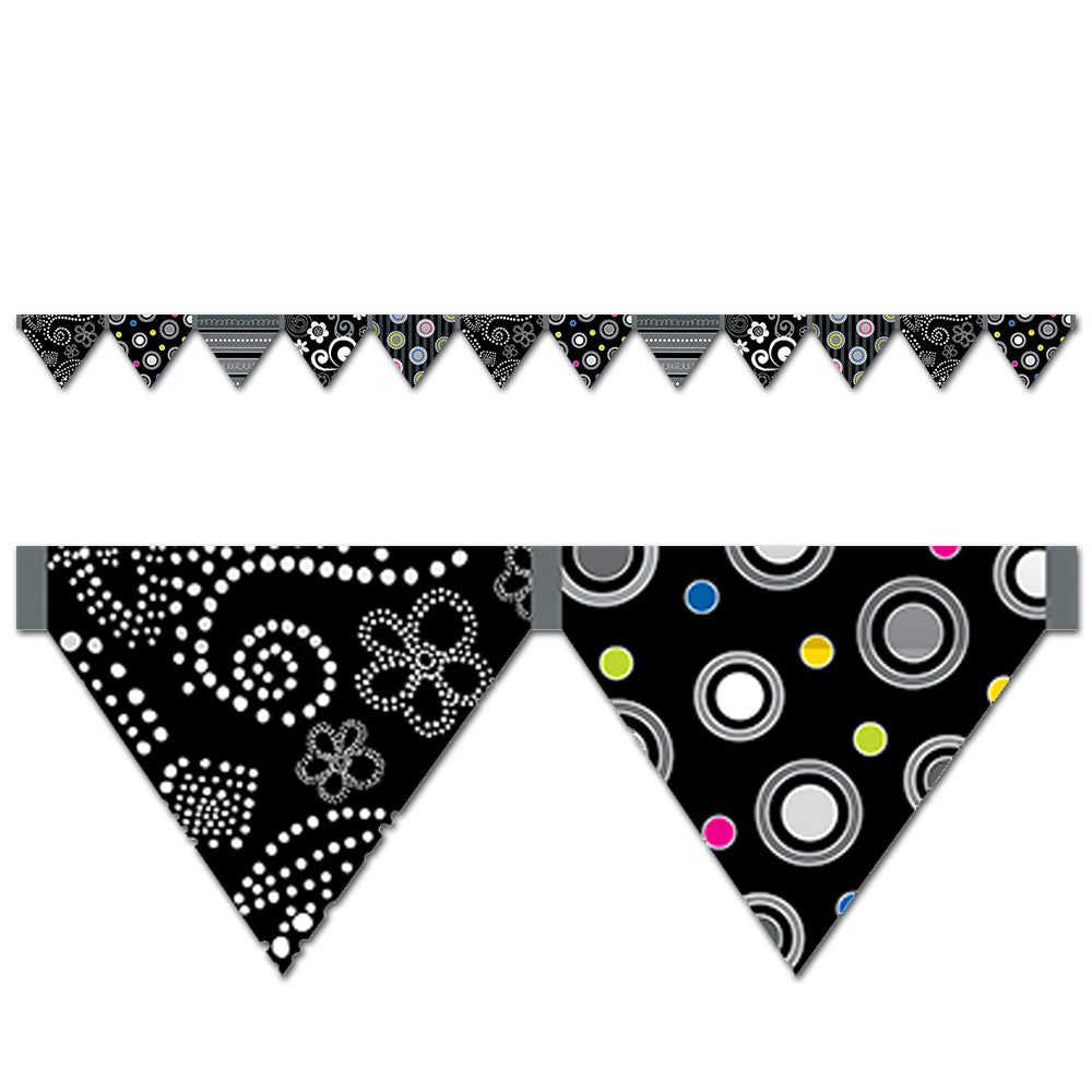 BW Pennants Mini Bulletin Board Set