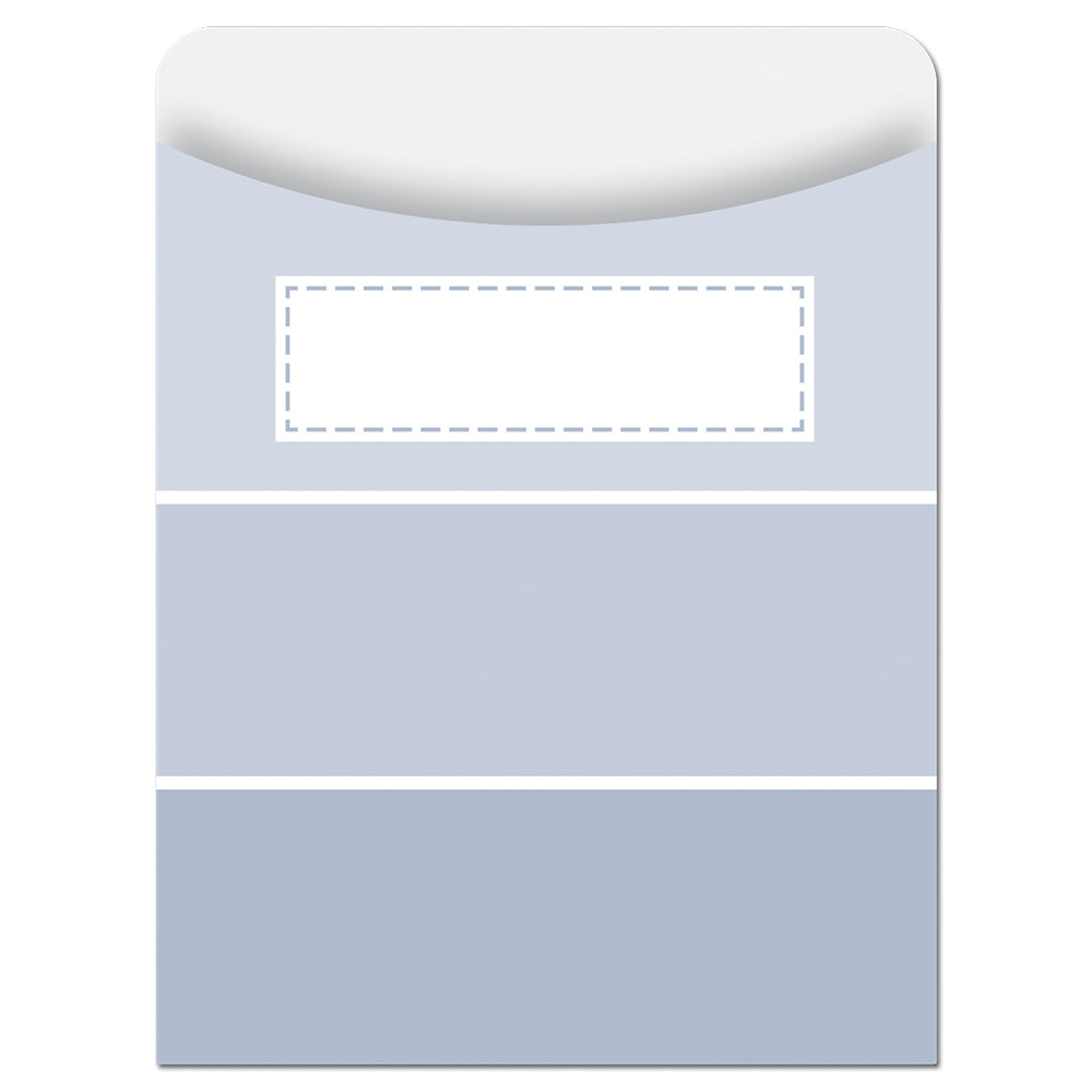 Painted Palette Slate Gray Paint Chip Library Pockets - Standard