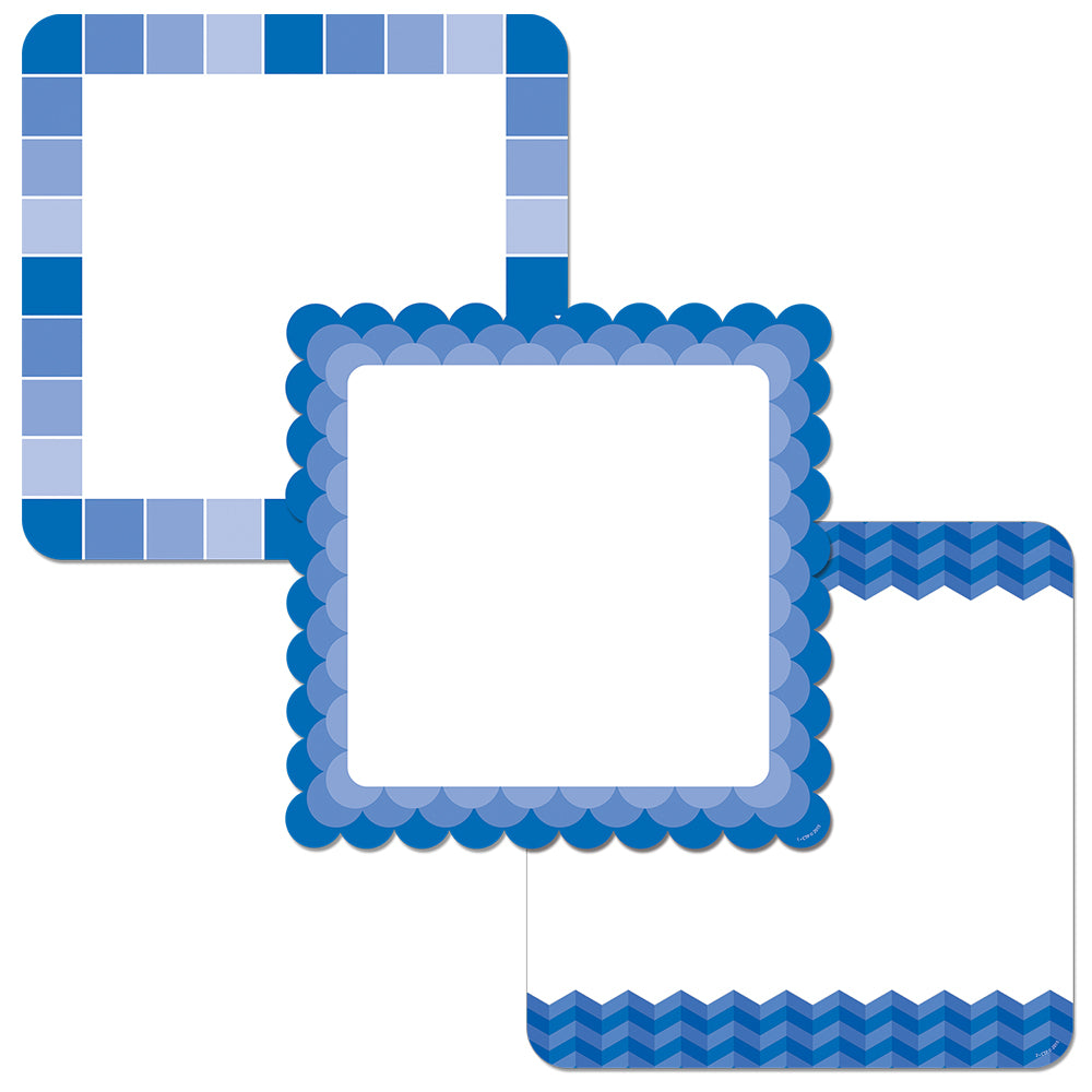 "Painted Palette Blue Chart Cards 10"" Designer Cut-Outs"