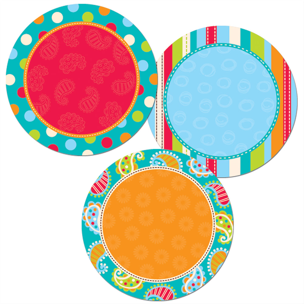 "Dots on Turquoise Dots 1"" Mini Designer Cut-Outs"