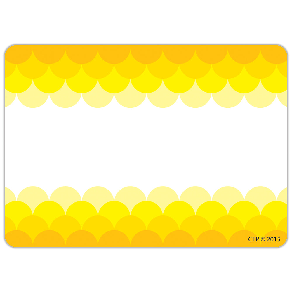 Painted Palette Ombre Yellow Scallops Labels