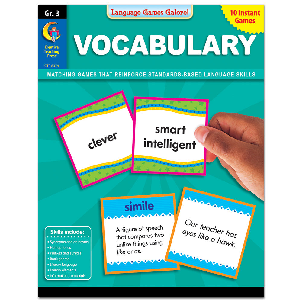 Language Games Galore: Vocabulary, Gr. 3