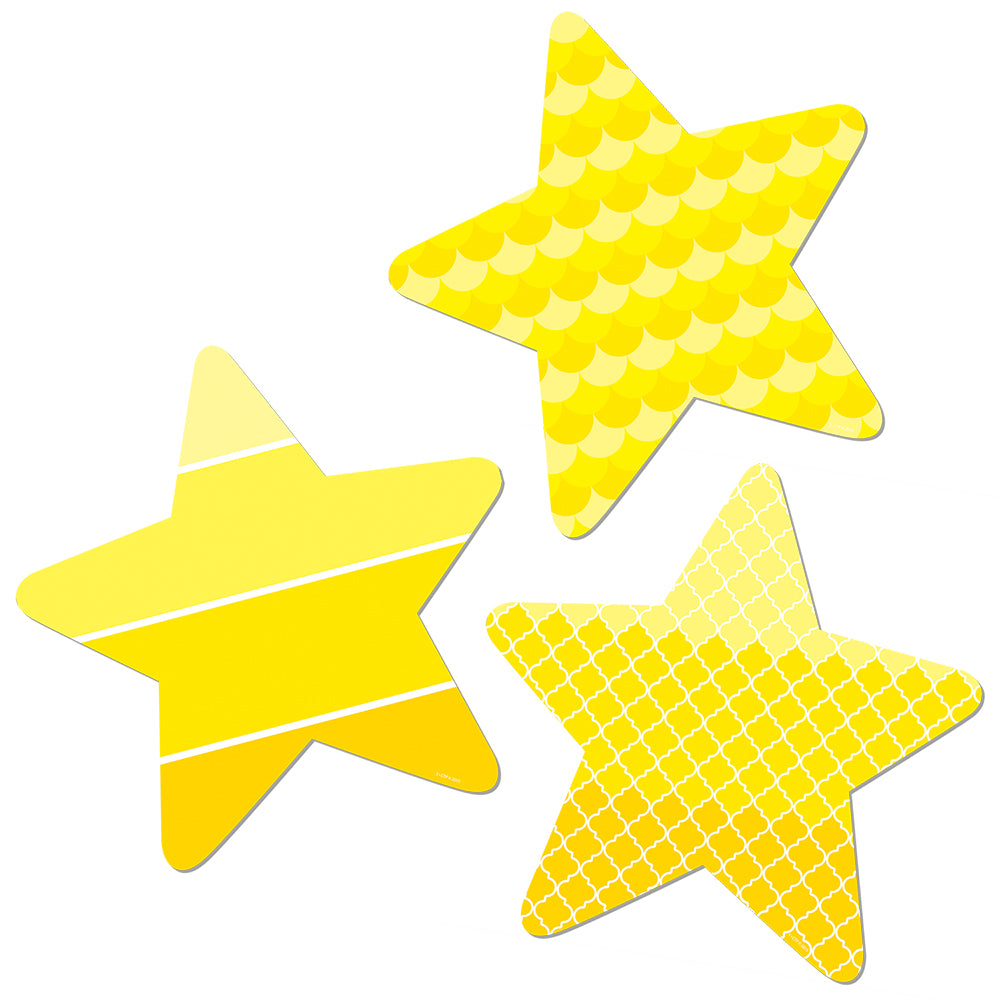 "Painted Palette Stars 10"" Designer Cut-Outs"