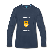 Abolish Shavery Long Sleeve Shirt - navy