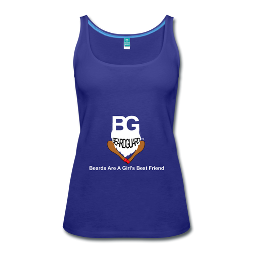 Beards Are A Girl's Best Friend Tank Top - royal blue