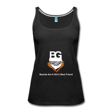 Beards Are A Girl's Best Friend Tank Top - black