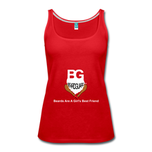 Beards Are A Girl's Best Friend Tank Top - red