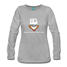 Beards Are A Girl's Best Friend Long Sleeve - heather gray
