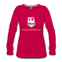 Beards Are A Girl's Best Friend Long Sleeve - dark pink