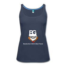 Beards Are A Girl's Best Friend Tank Top - navy