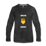 Abolish Shavery Long Sleeve Shirt - charcoal gray
