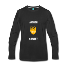 Abolish Shavery Long Sleeve Shirt - black