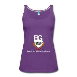 Beards Are A Girl's Best Friend Tank Top - purple