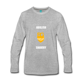 Abolish Shavery Long Sleeve Shirt - heather gray