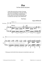 Feyen - Plot for Bass Clarinet and Piano - BCP6230EM