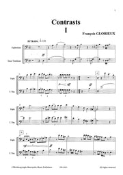 Glorieux - 6 Contrasts for Euphonium and Trombone - CM6661EM