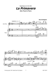 Christiaens - La Primavera (Alto Flute and Piano) - A109033DMP