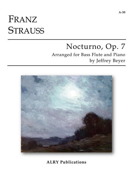 Strauss, Franz (arr. Beyer) - Nocturno, Op. 7 (Bass Flute and Piano) - A30