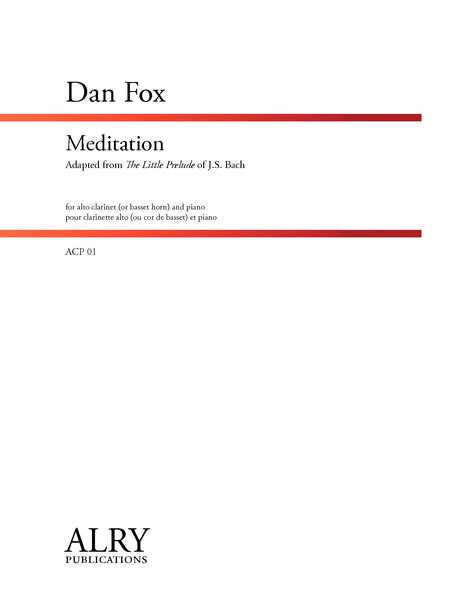 Fox - Meditation for Alto Clarinet and Piano - ACP01