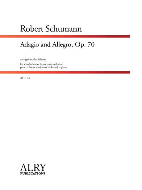 Schumann - Adagio and Allegro, Op. 70 for Alto Clarinet and Piano - ACP04