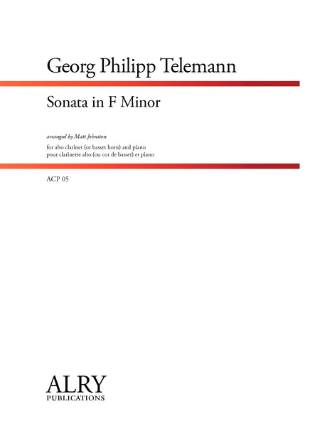 Telemann - Sonata in F Minor for Alto Clarinet and Piano - ACP05