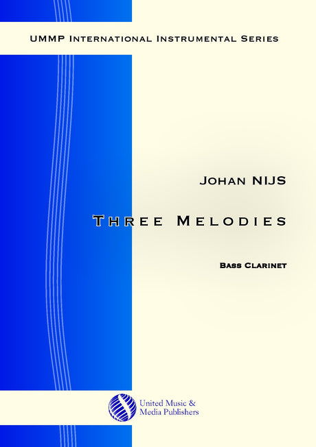 Nijs - Three Melodies for Bass Clarinet Solo - BC181004UMMP