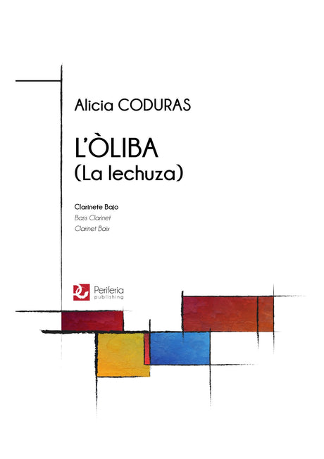 Coduras - L'oliba (La lechuza) for Bass Clarinet Solo - BC3427PM