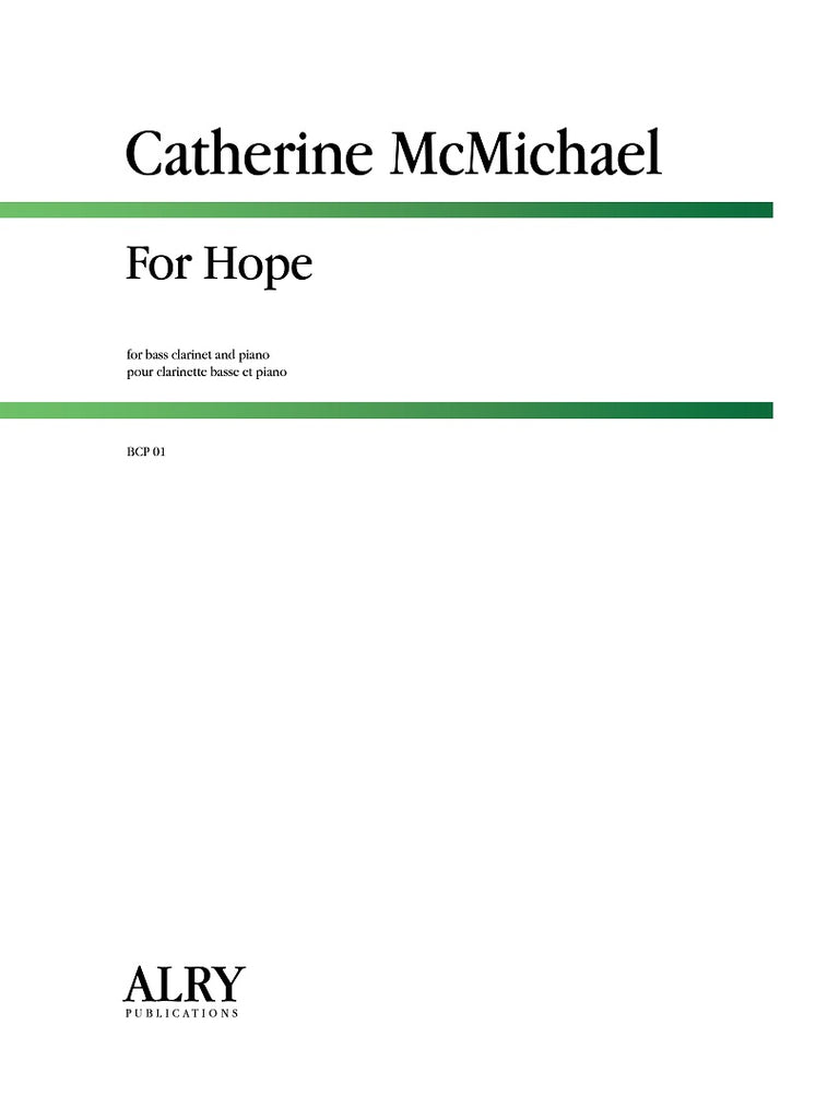 McMichael - For Hope (Bass Clarinet and Piano) - BCP01