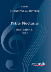 Steenhuyse-Vandevelde - Petite Nocturne for Bass Clarinet and Piano - BCP7222EM