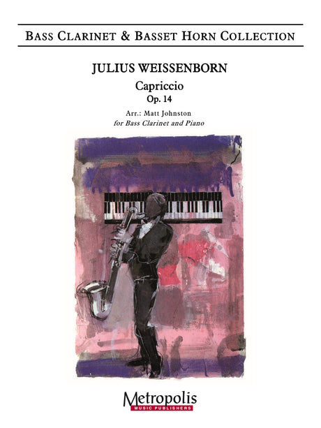 Weissenborn (arr. Johnston) - Capriccio, Op. 14 (Bass Clarinet and Piano) - BCP7329EM