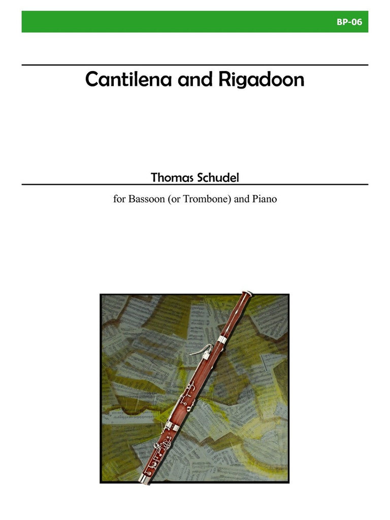 Schudel - Cantilena and Rigadoon for Bassoon and Piano - BP06