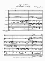 Beethoven (arr. Johnston) - Adagio Cantabile from 'Sonata Pathetique' (Clarinet Choir) - CC104