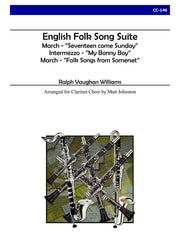 Vaughan Williams (arr. Johnston) - English Folk Song Suite for Clarinet Choir - CC146