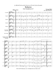 Bizet (arr. Johnston) - 'Scherzo' from Symphony in C for Clarinet Choir - CC105
