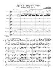 Holst (arr. Johnston) - 'Jupiter' from The Planets for Clarinet Choir - CC117