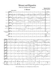 Ravel (arr. Johnston) - Menuet and Rigaudon from 'Le Tombeau de Couperin' for Clarinet Choir - CC123