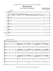 Saint-Saens (arr. Johnston) - Bacchanale from Samson and Delilah for Clarinet Choir - CC161