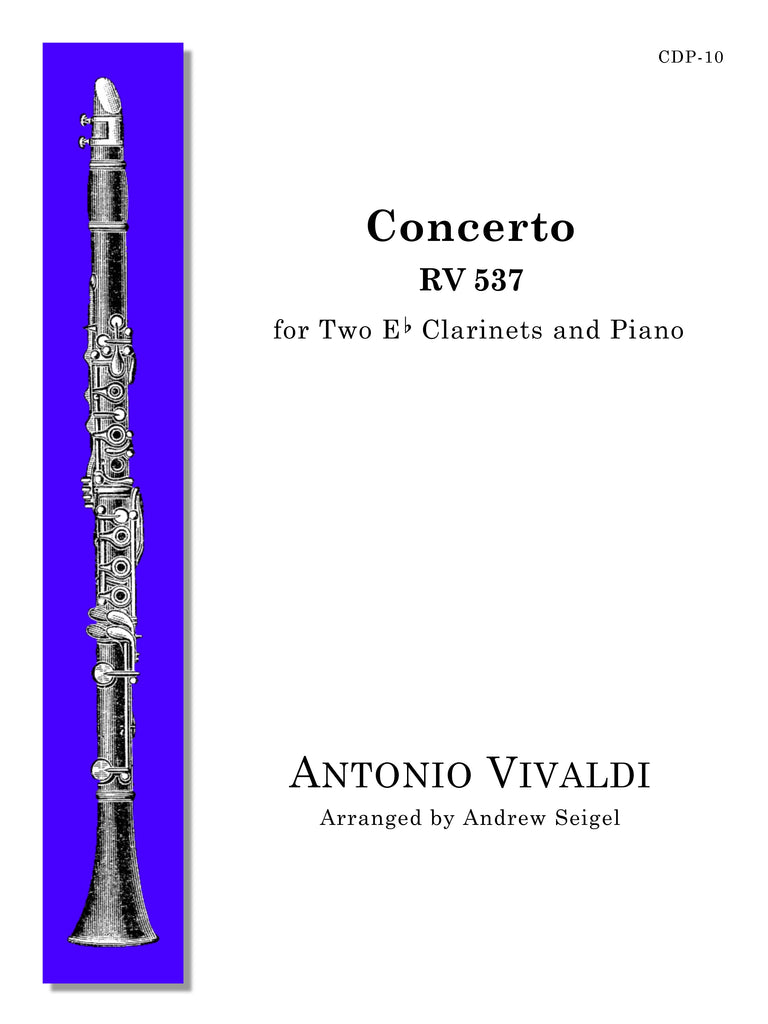 Vivaldi (arr. Seigel) - Concerto for Two E-flat Clarinets and Piano - CDP10