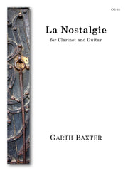 Baxter - La Nostalgie (Clarinet and Guitar) - CG01