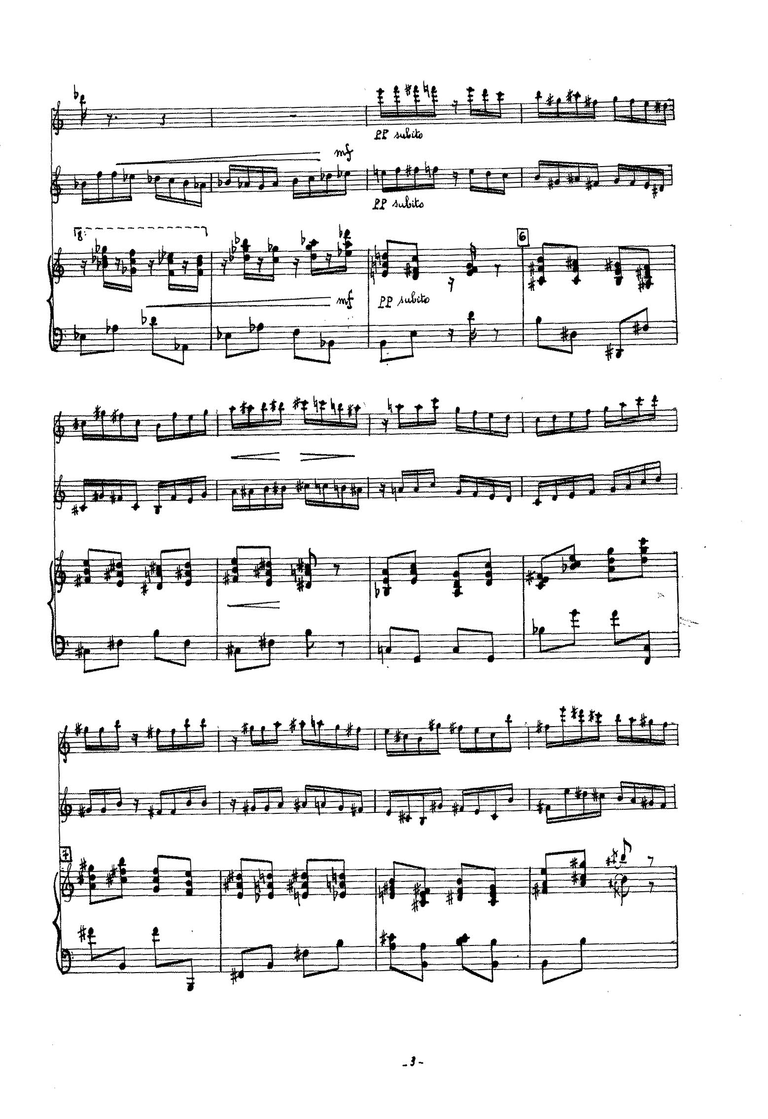 Dubois, Pierre Max - Suite for Violin, Clarinet and Piano