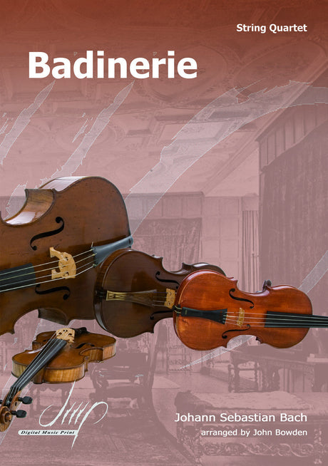 Bach - Badinerie for String Quartet - CM108178DMP