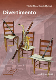 de Regt - Divertimento for Flute, Oboe and Clarinet - CM112113DMP