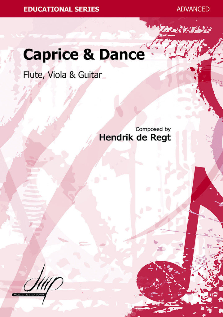 de Regt - Caprice and Dance for Flute, Viola and Guitar - CM112127DMP