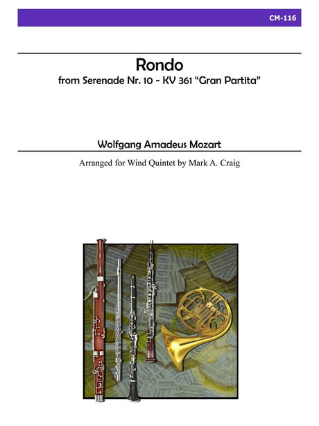 Mozart (arr. Craig) - Rondo from Gran Partita for Wind Quintet - CM116